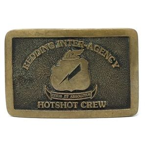 VTG Redding Inter-Agency HOTSHOTS Crew Buckle 1982